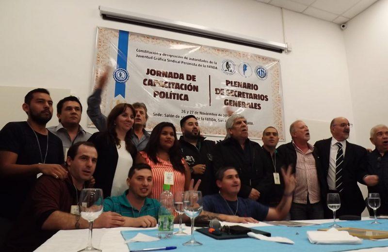 Jornada de lanzamiento de la Juventud Gráfica Sindical Peronista de la FATIDA