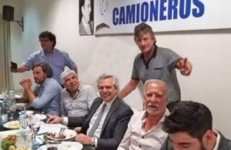 Nuestro secretario general con Alberto Fernández