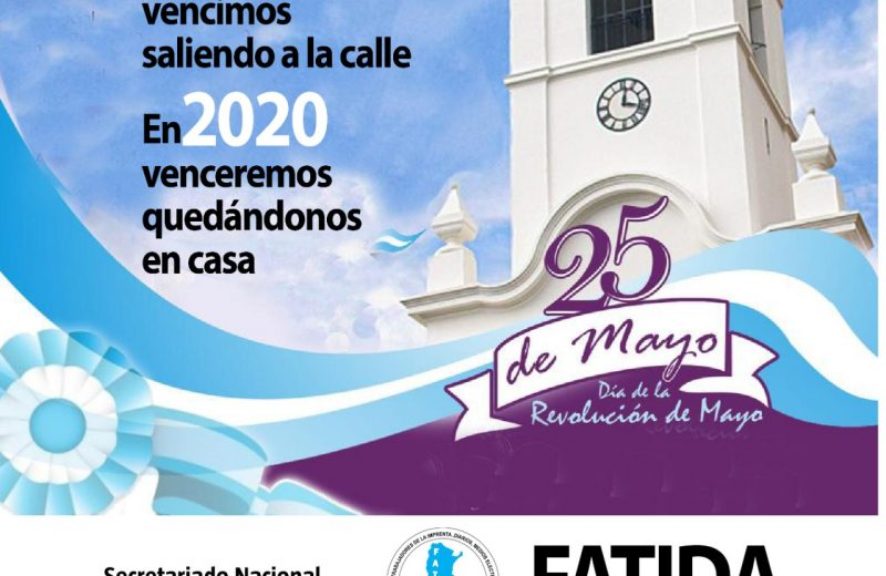 Afiche por el 25 de Mayo
