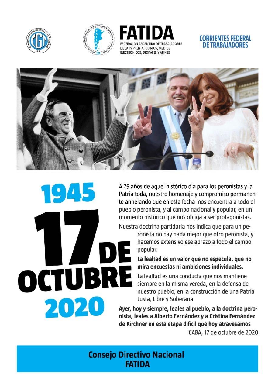 1945 – 17 de Octubre – 2020