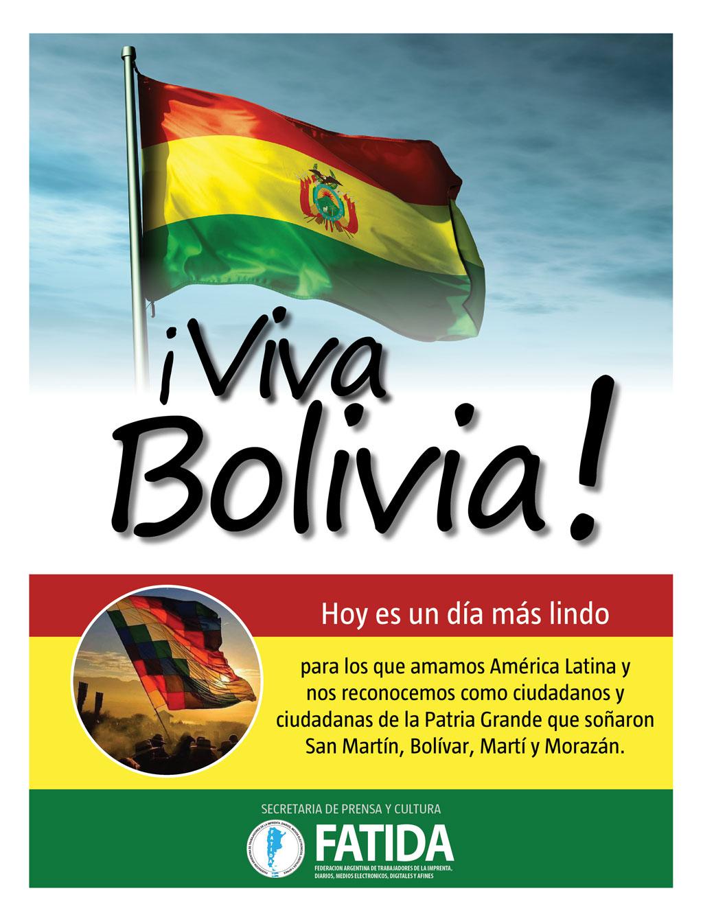 ¡Viva Bolivia!