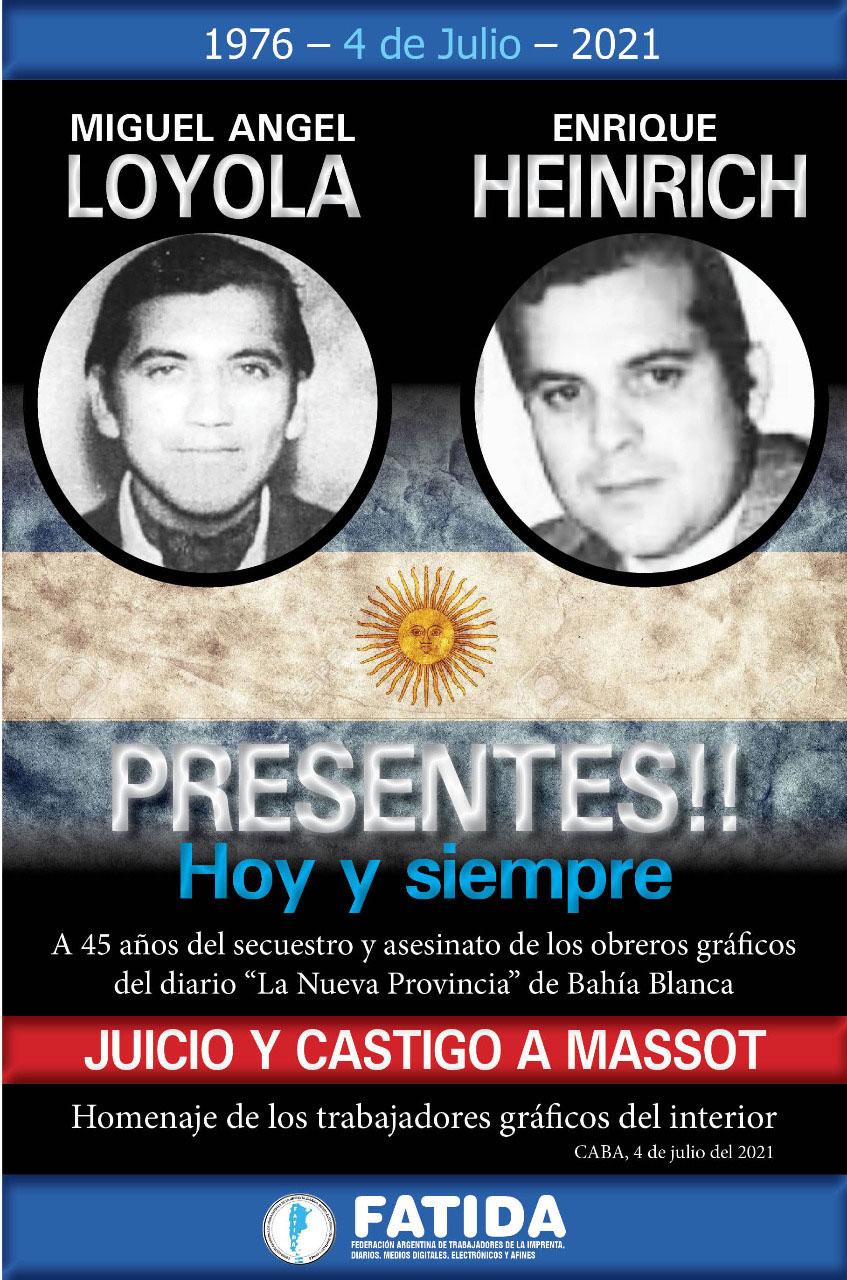4 de Julio: A 45 años del secuestro y asesinato de Miguel Loyola y Enrique Heinrich